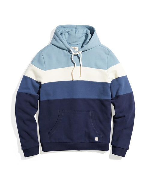 Colorblock Pullover Hoodie - Navy/Blue Ombre
