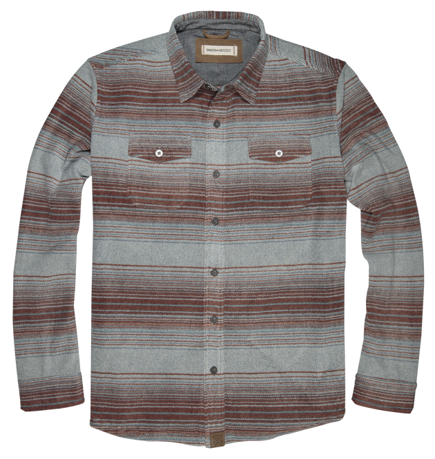 Bowie Long Sleeve Button Up - Copper