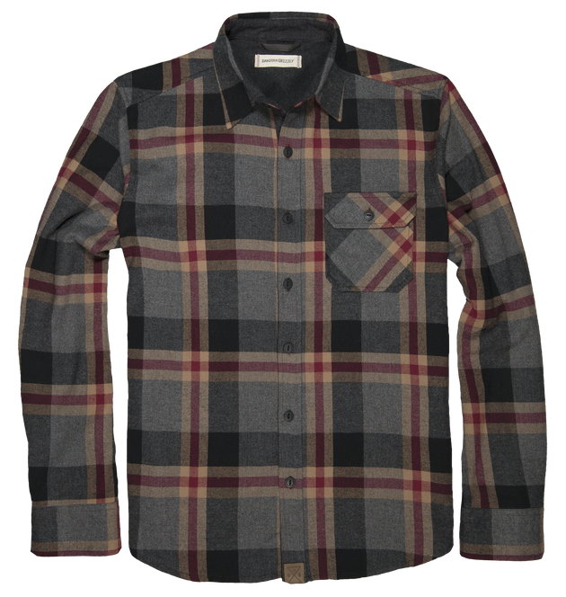 Brock Long Sleeve Button Up - Smoke