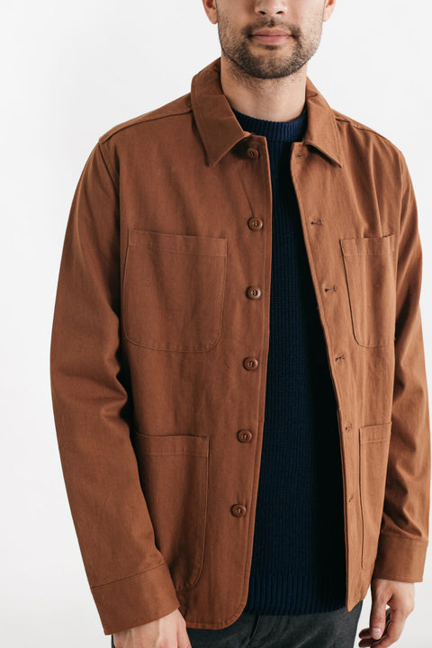 Amos Hickory Jacket - Brown
