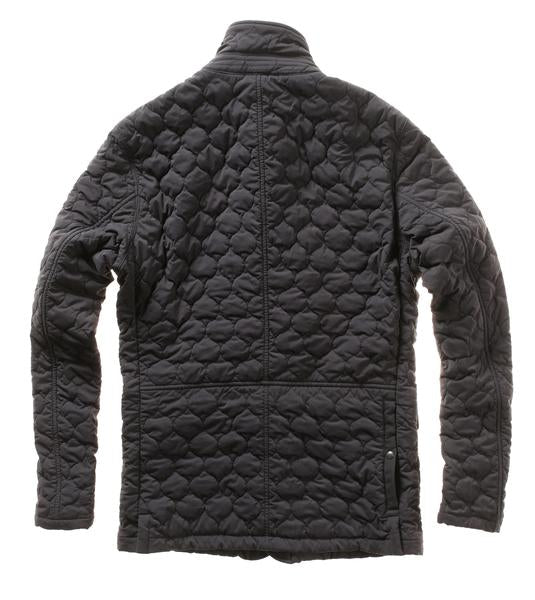 Quilted Trap Blazer - Black Fade