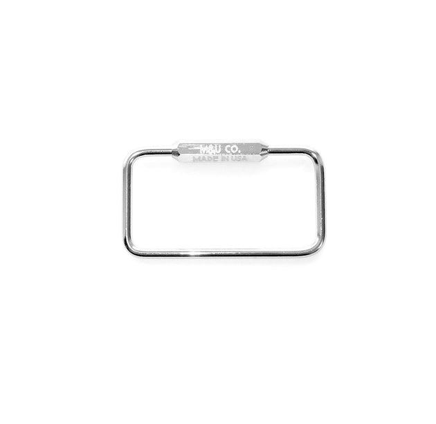 Rectangle Keyring - Chrome