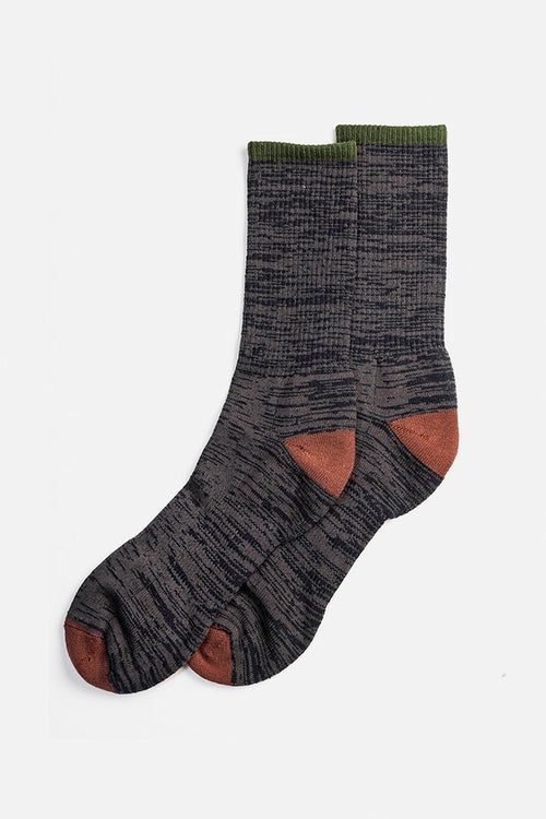 Cotton Marl Sock - Navy