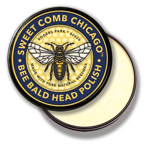 Bee Bald Head Polish, 4 oz.