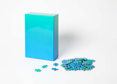 Gradient Puzzle - Blue/Green