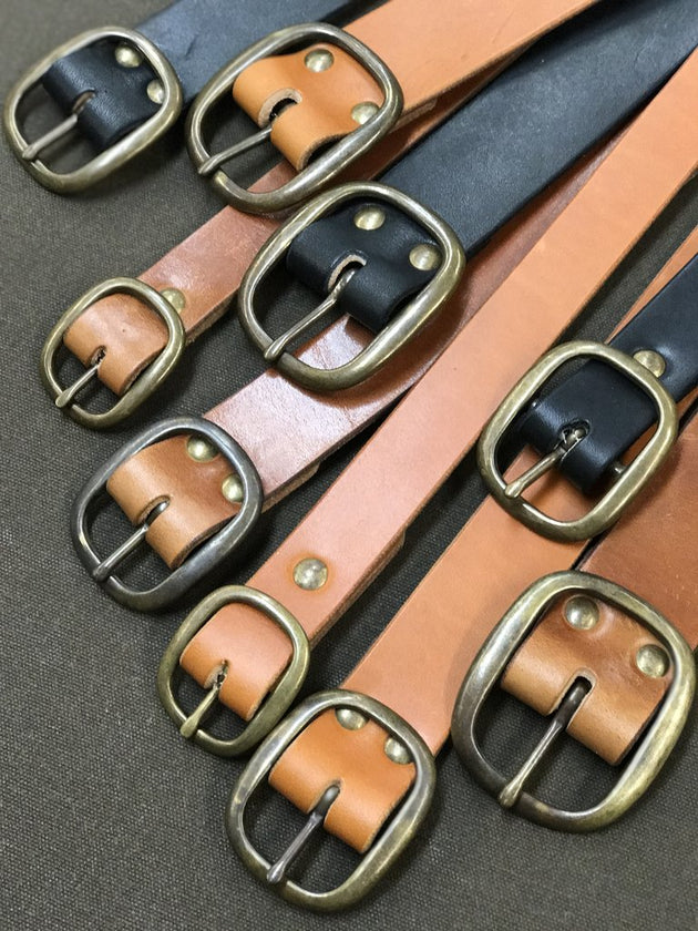 Center Bar Buckle Belt - Bourbon