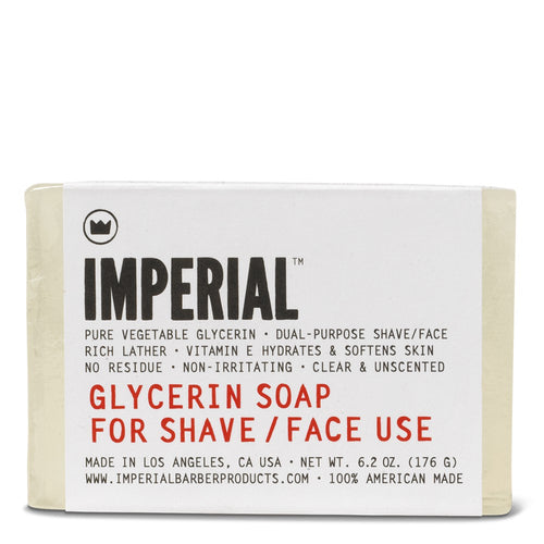 Glycerin Soap Bar for Shave/Face, 6.2 oz.
