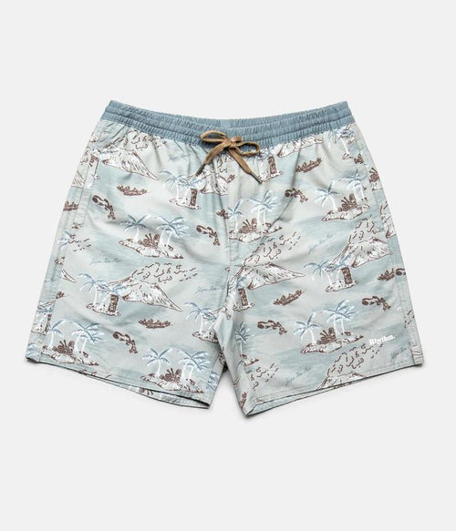 Mohalo Beach Shorts - Sea Foam Print
