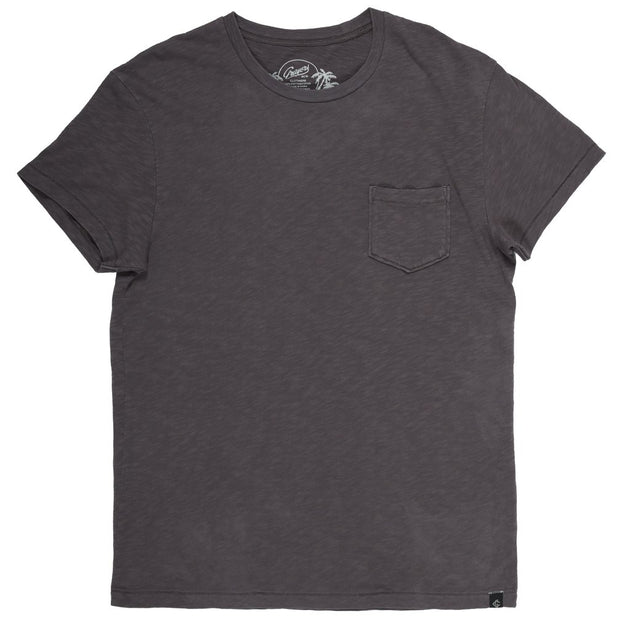 Jaspe Loose Knit Pocket Tee - Forged Iron Dark Grey