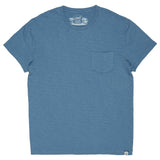 Jaspe Loose Knit Pocket Tee - Niagara Blue