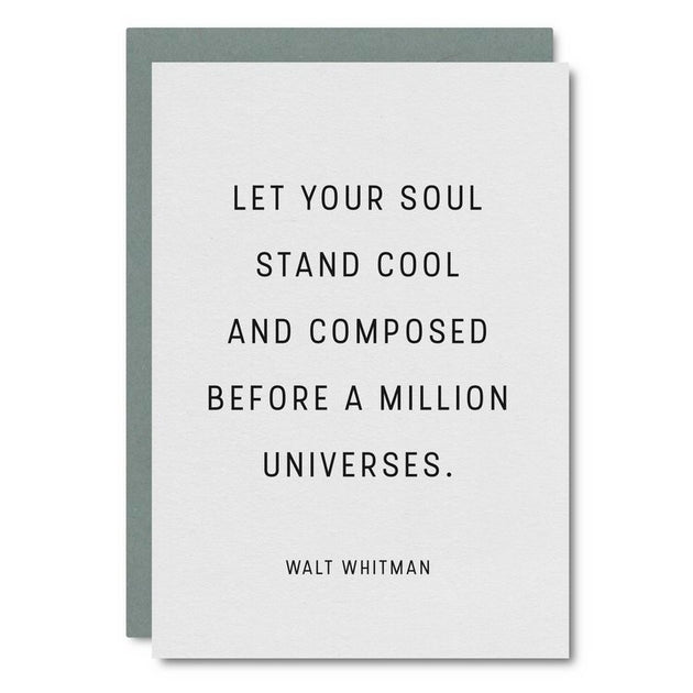 Let Your Soul Stand... Walt Whitman Card