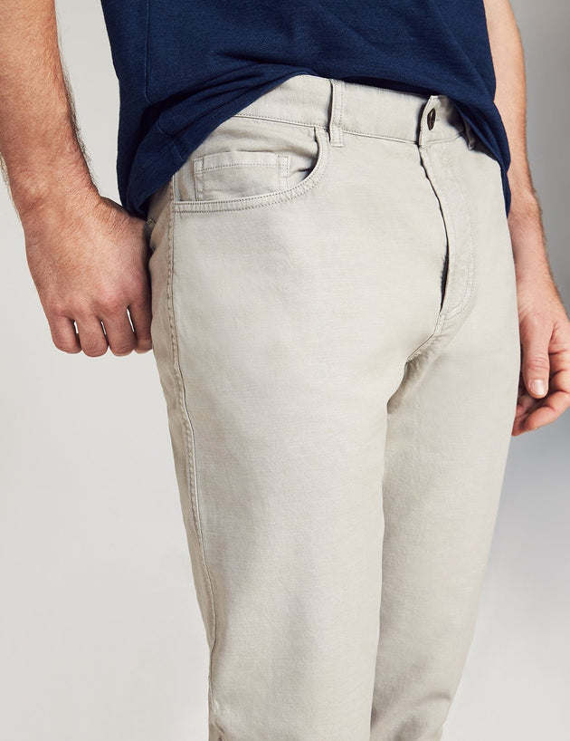 Del Mar 5-Pocket Pant - Sunwashed Grey