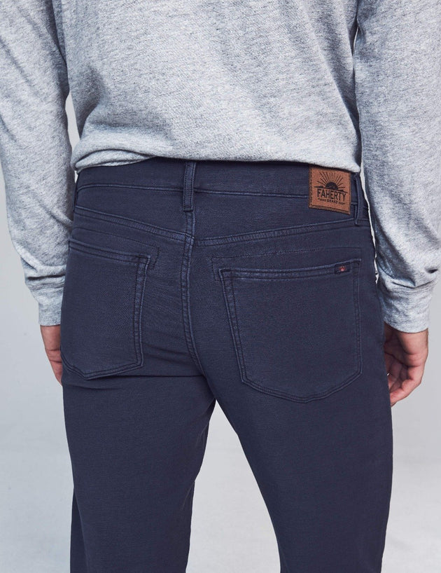 Stretch Terry 5-Pocket Pant - Navy