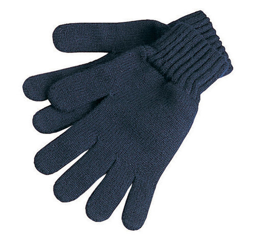 Lambswool Gloves - Navy