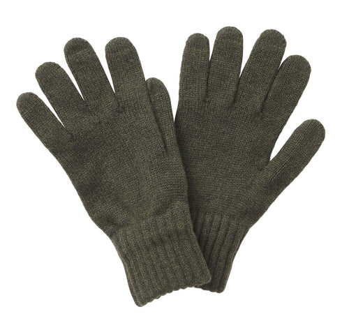 Lambswool Gloves - Olive