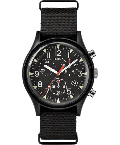MK1 Aluminum Chronograph 40mm Fabric Watch - Black