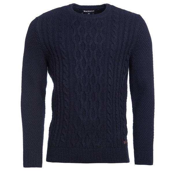 Barbour Chunky Cable Sweater - Navy