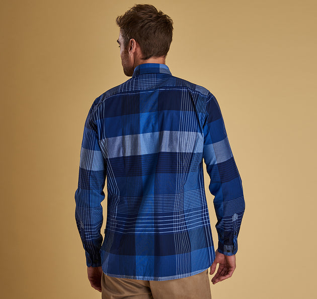 Barbour Stern Long Sleeve Button Up - Inky Blue