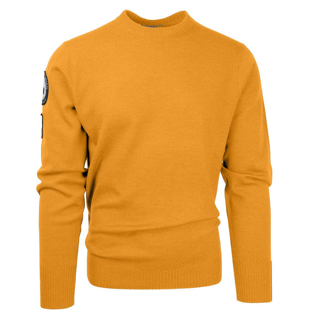 Peak Crew Neck Sweater - Yellow Haze