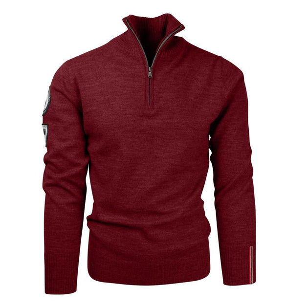 Peak Half Zip Sweater - Ruby Red