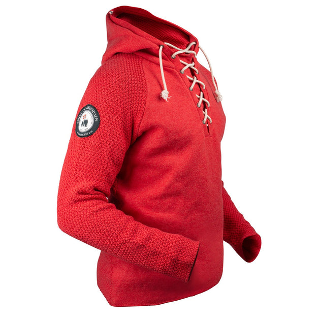 Boiled Hoodie Laced - Weathered Red