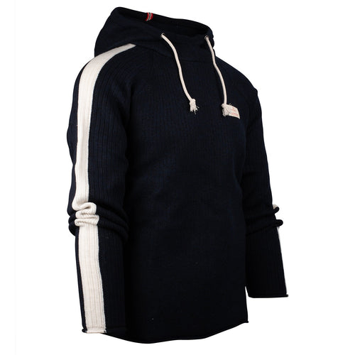 Boiled Hoodie Stripes - Faded Navy
