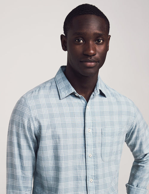 Cloud Cotton Everyday Long Sleeve Shirt - Meadows Plaid