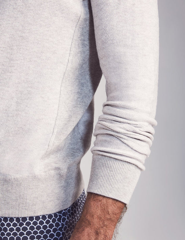 Coastline Crewneck Pullover - Heather Grey