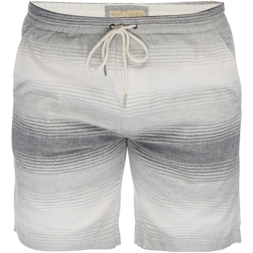 Steve Pull On Drawstring Shorts - Grey Ombre Stripe