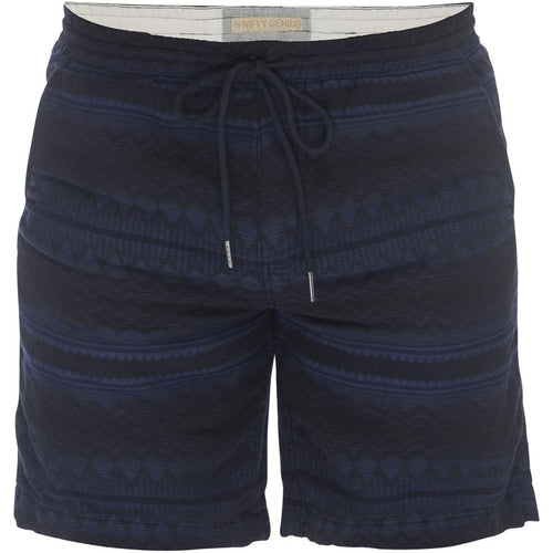 Steve Pull On Drawstring Shorts - Navajo Navy Stripe