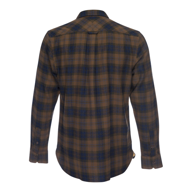 Truman Outdoor Long Sleeve Button Up - Gold Plaid
