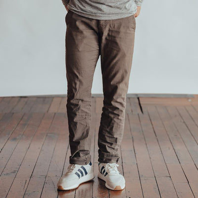 Stretch Canvas Pant - Brown