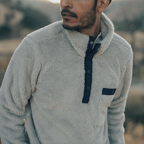 Henry Sherpa Pullover - Stone
