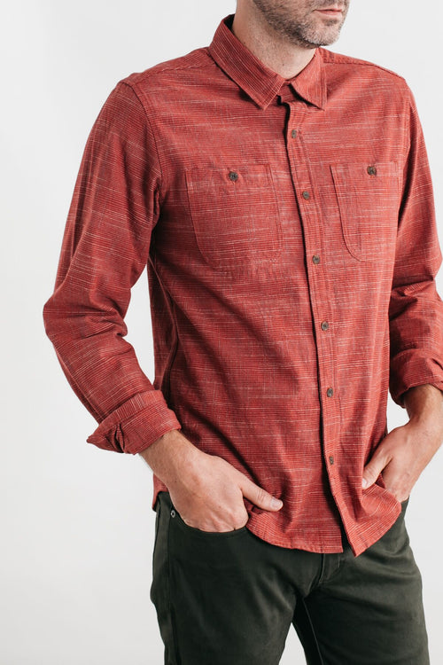 Winslow Long Sleeve Button Up - Red Grid