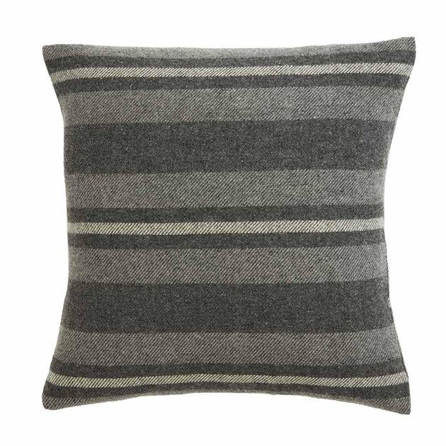 "Cabin Pillow, 20"" x 20"" - Charcoal/Heather Grey/Natural"