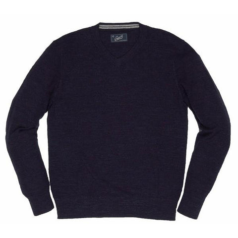 Bleecker V Neck Sweater - Navy Heather
