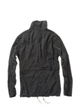 Peached Sailcloth Tanker Jacket - Black