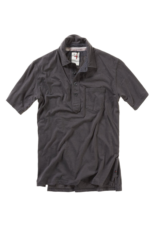 Finespun Jersey Polo - Smoke
