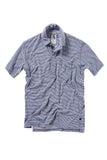 Finespun Stripe Polo - Slate/White