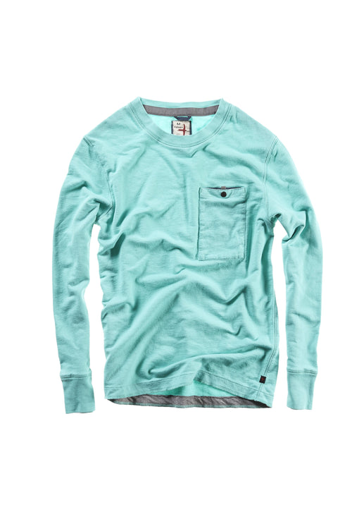 Frenchloop Crewneck Long Sleeve - Mint Green