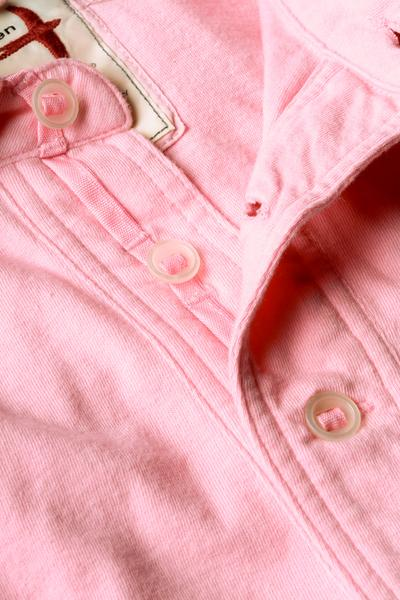Solid Slot Polo - Pale Pink