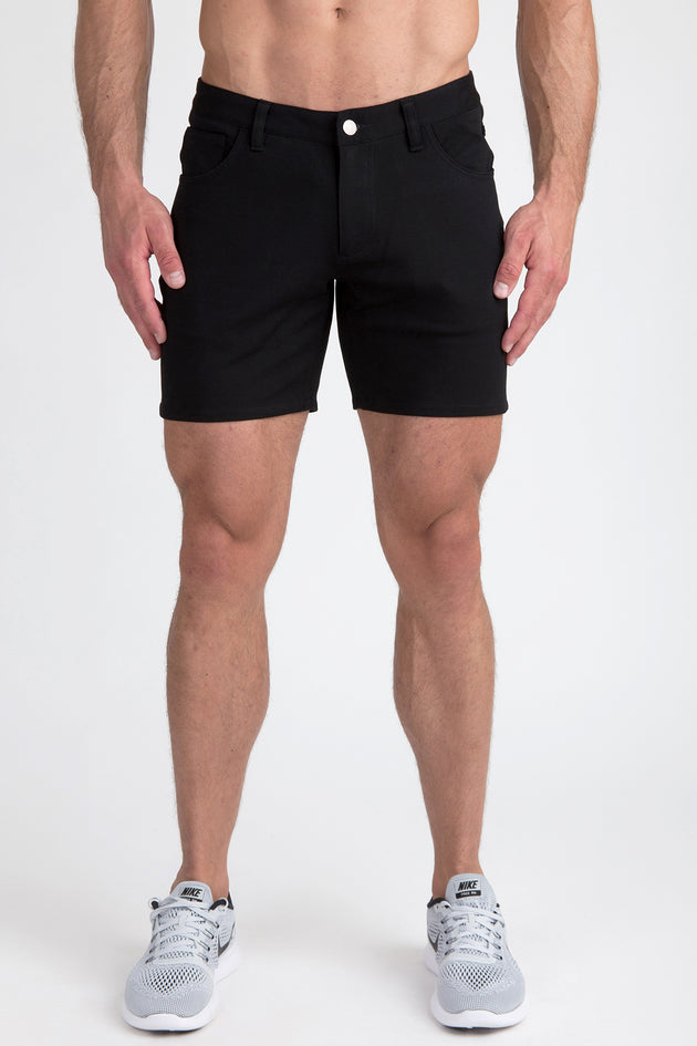 Stretch Knit Shorts - Black