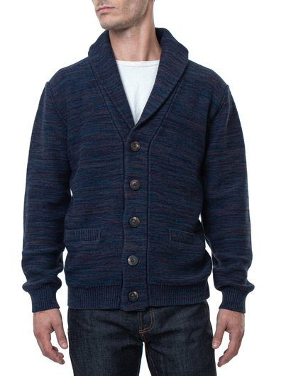 Multicolor Cotton Cardigan - Navy