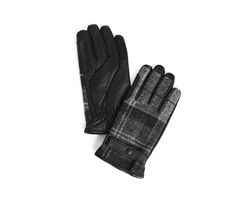 Leather Thinsulate Gloves - Black/Grey