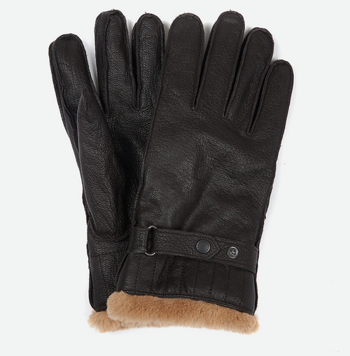 Leather Utility Gloves - Brown