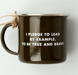 Scout Enamel Mug - Dark Olive Brown