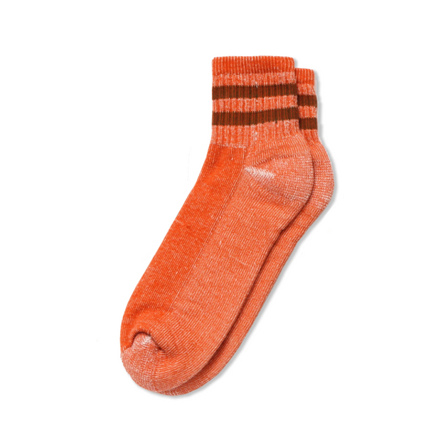 Merino Activity Quarter Crew - Tangerine