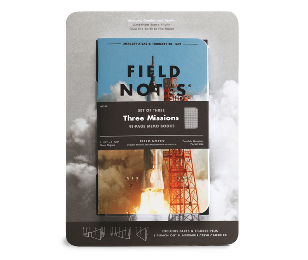Three Missions Notebook, Set of 3