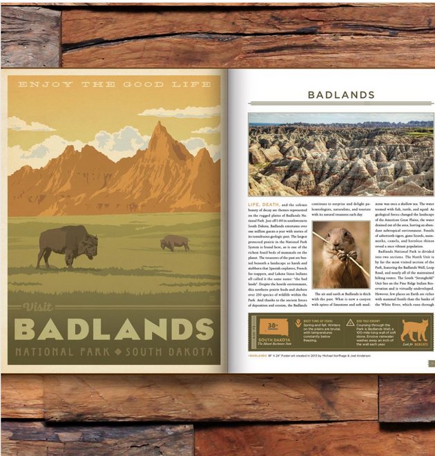 59 Illustrated National Parks Book