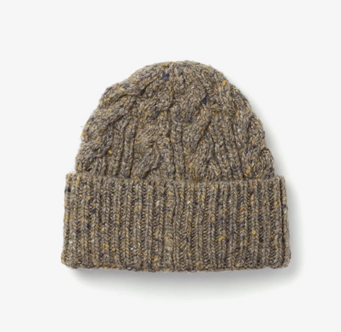 Cable Beanie - Stone